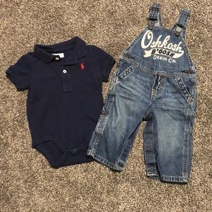 9 month boys overalls and fashion onesie
